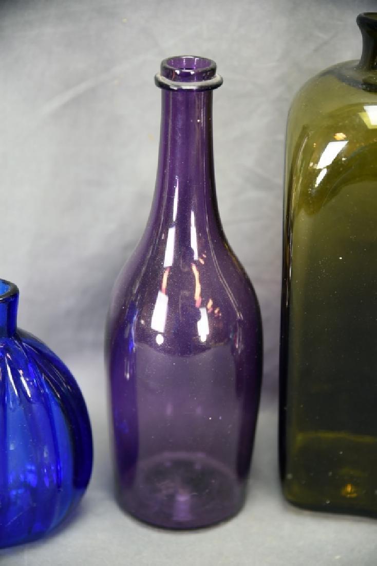6 Newer Blown Glass Bottles - 3