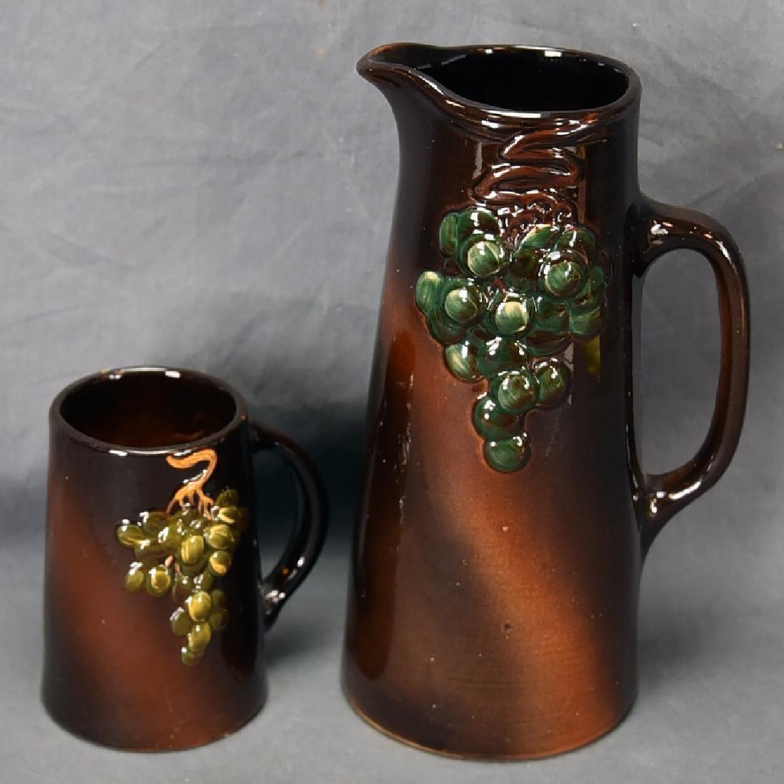 Weller Floretta grape Pitcher and Tankard