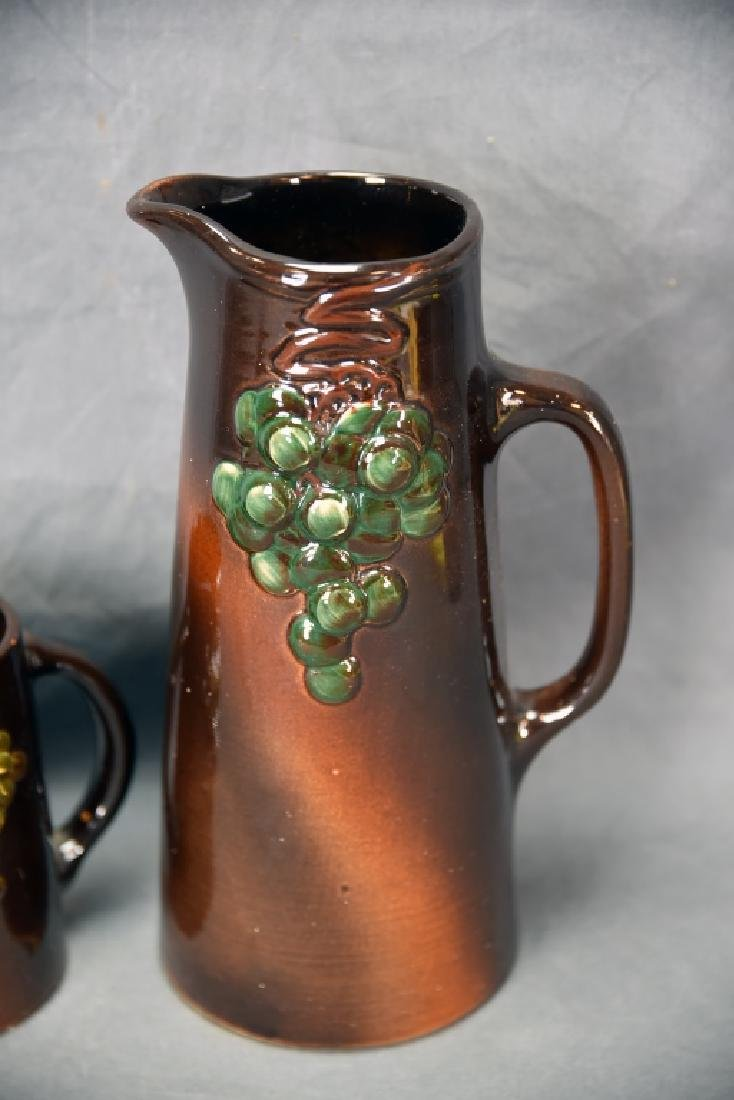 Weller Floretta grape Pitcher and Tankard - 3