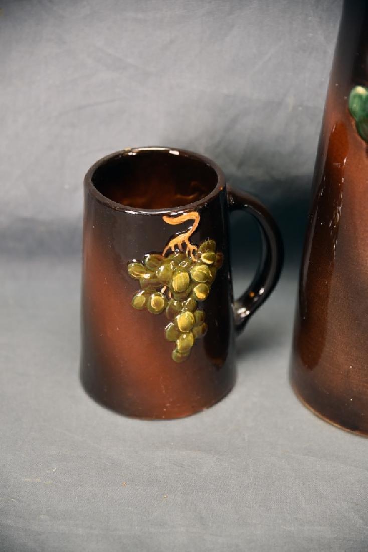 Weller Floretta grape Pitcher and Tankard - 4