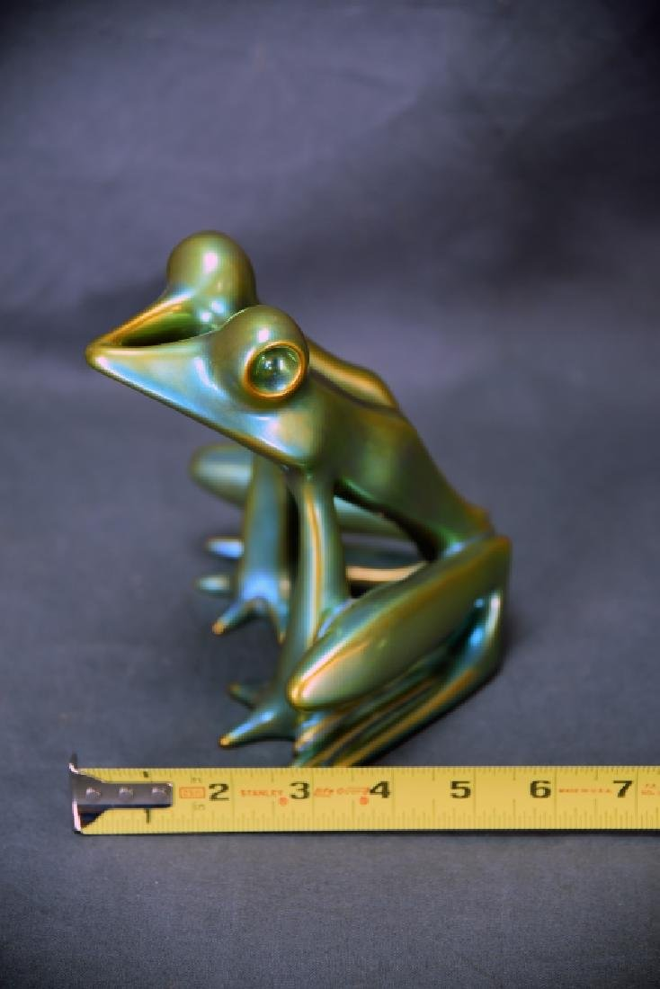 Zsolnay Eosin Irridescent Pottery Frog - 2