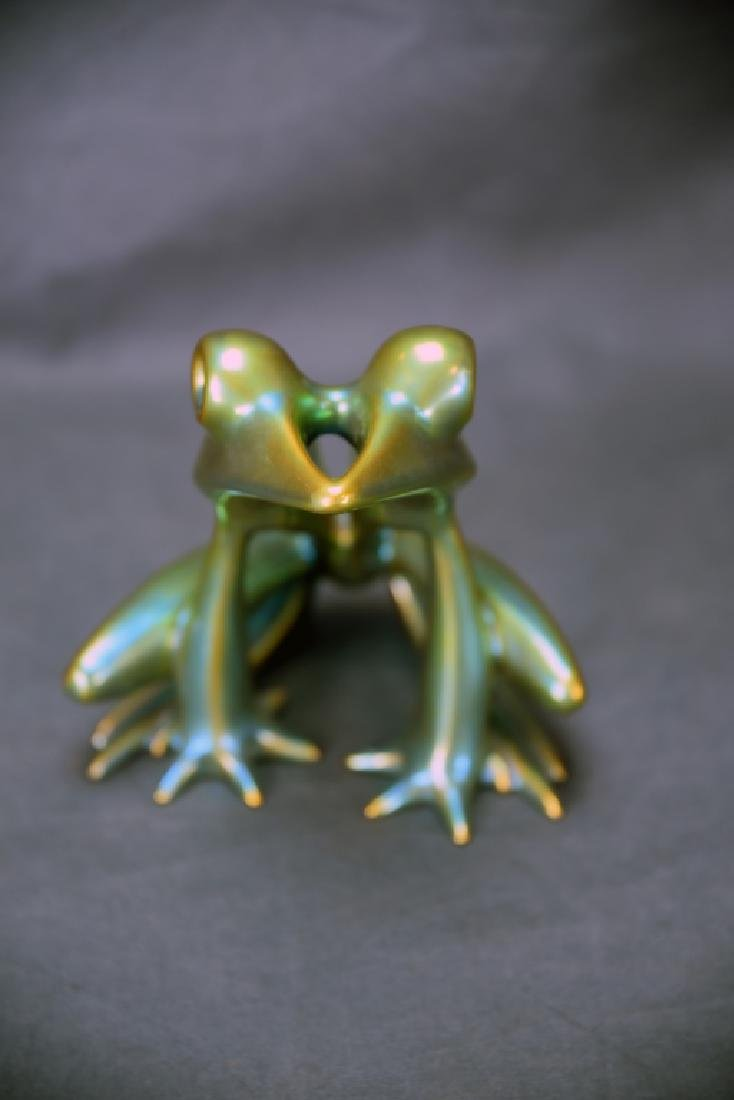 Zsolnay Eosin Irridescent Pottery Frog - 5