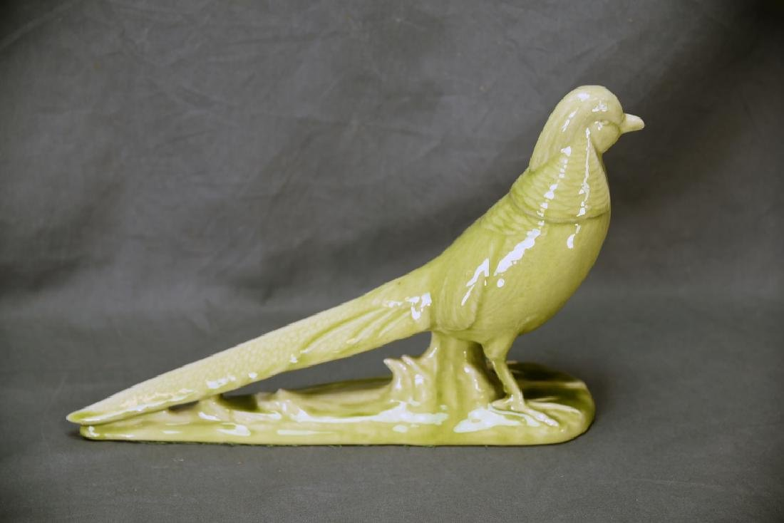 Rookwood Green Pottery Pheasant - 3