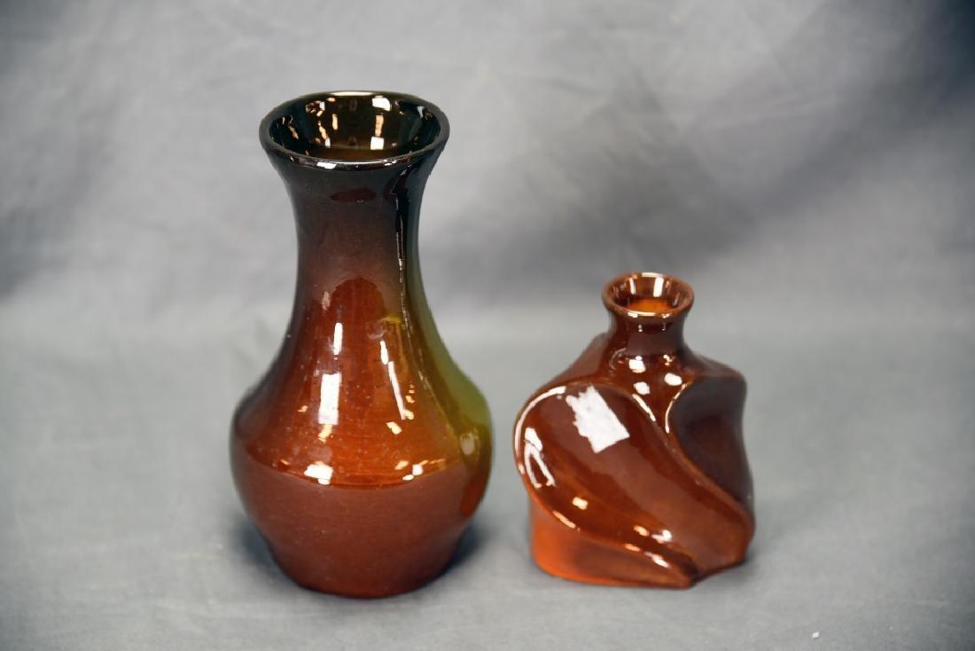 2 Owens Utopian Floral Vases - 3
