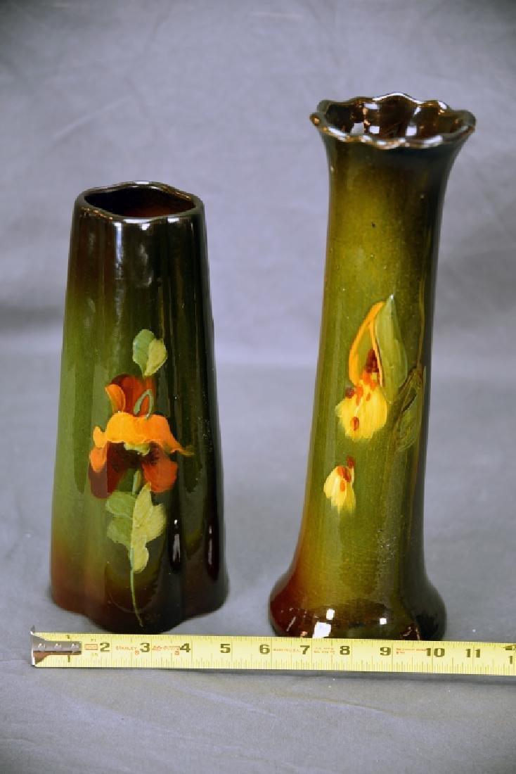 2 McCoy Loy-Nel Vases, Floral, Milkweed - 2