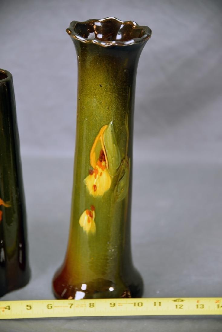 2 McCoy Loy-Nel Vases, Floral, Milkweed - 4