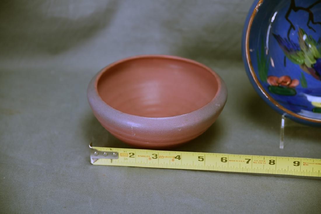 Torquay Kingfisher Bowl, 2 Van Briggle Pieces - 3