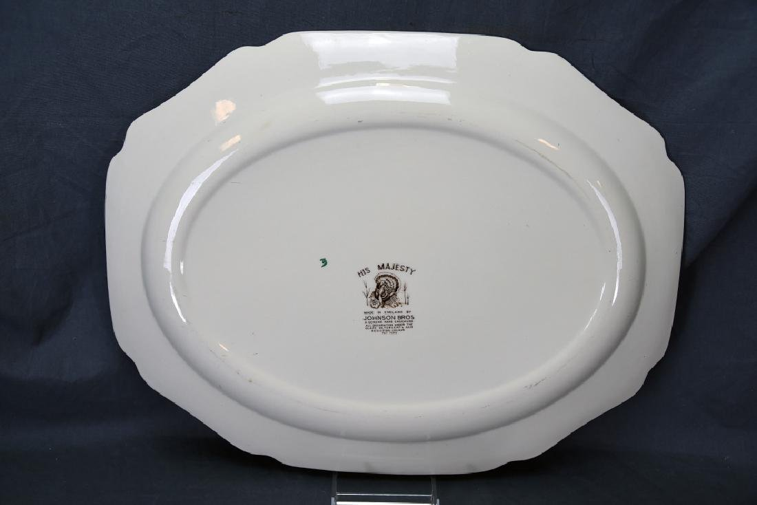 Johnson Bros. His Majesty Turkey Platter, Gravy - 6