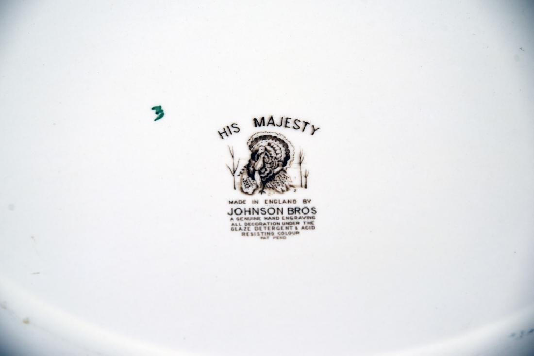 Johnson Bros. His Majesty Turkey Platter, Gravy - 7
