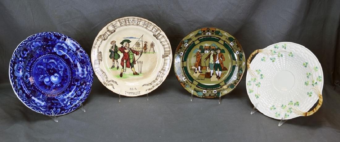 4 Decorative Plates, Longport, Doulton, Belleek…