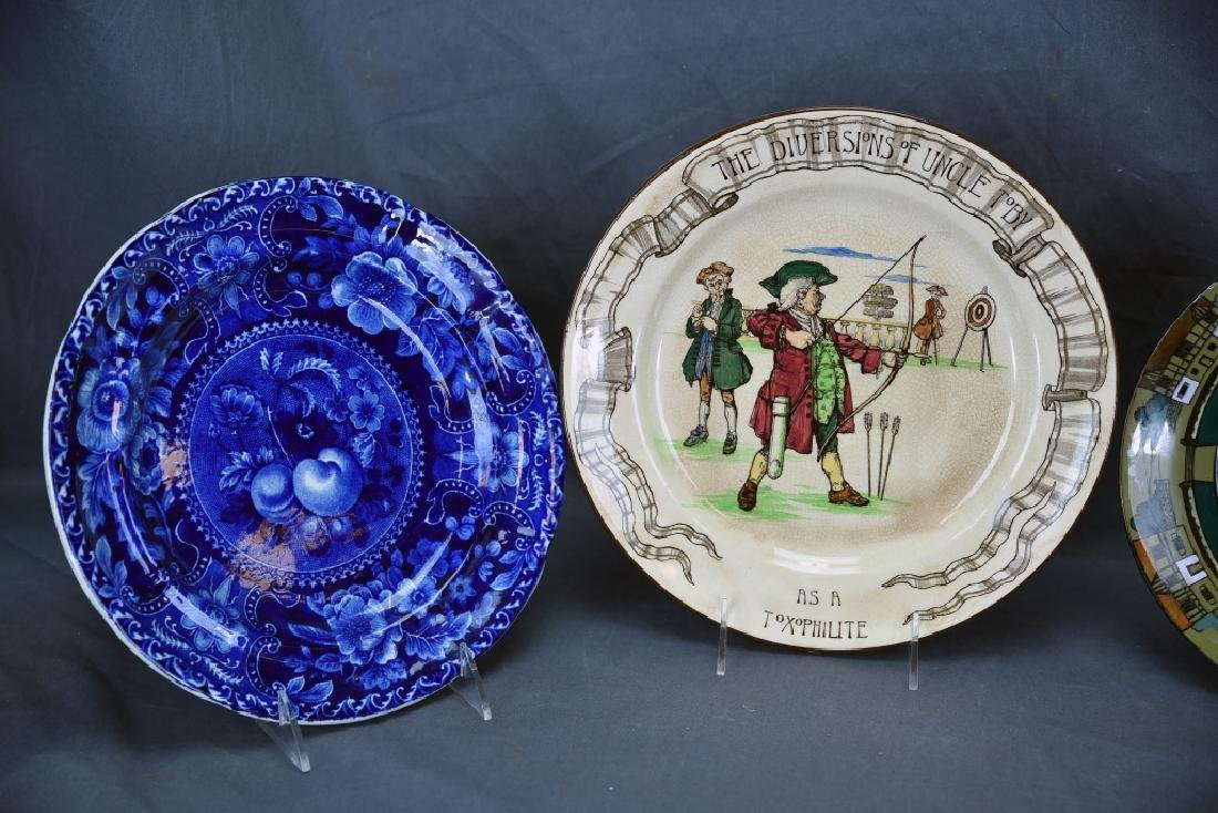 4 Decorative Plates, Longport, Doulton, Belleek… - 2