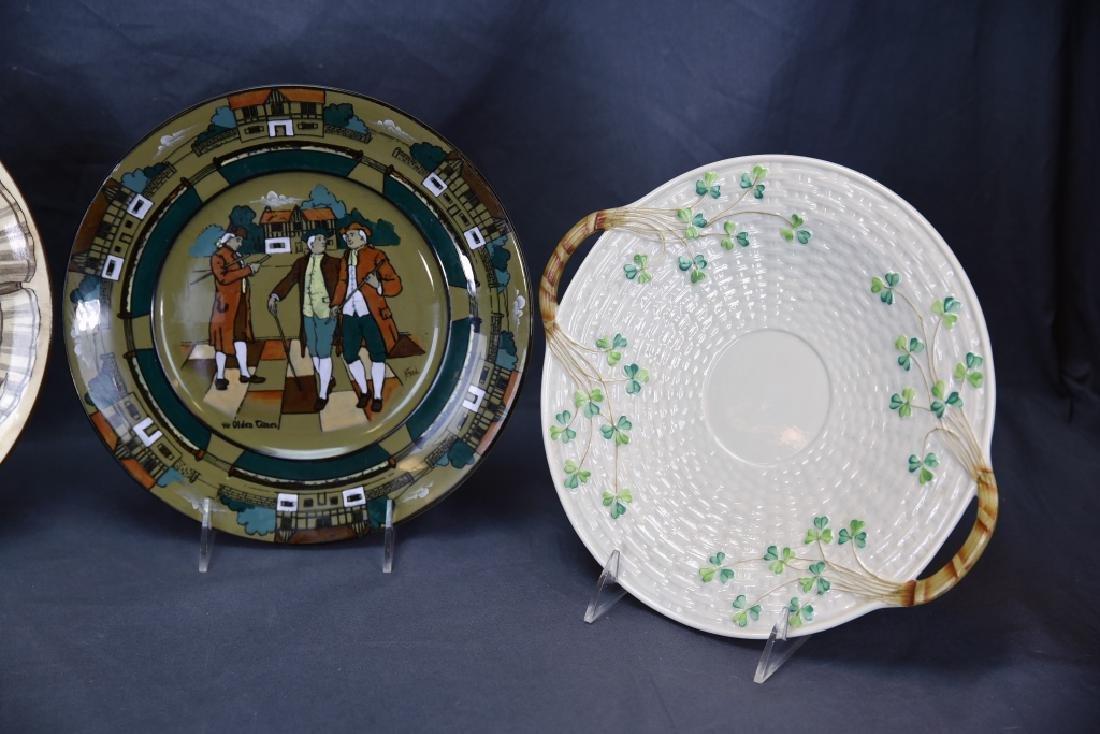 4 Decorative Plates, Longport, Doulton, Belleek… - 3