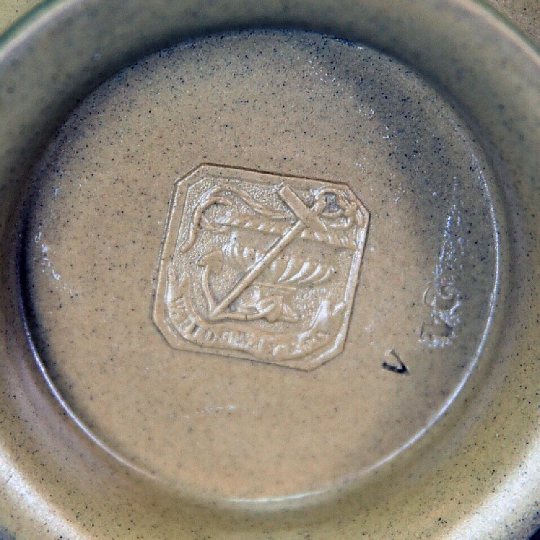 19th C. Marked Ridgeway Syrup Pitcher, Pewter Lid - 7