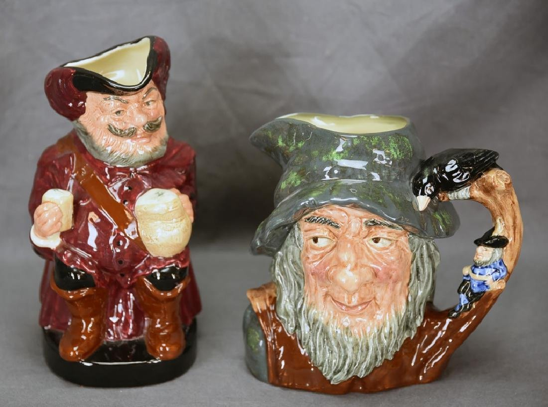 Royal Doulton Rip Van Winkle, Falstaff Toby Mugs