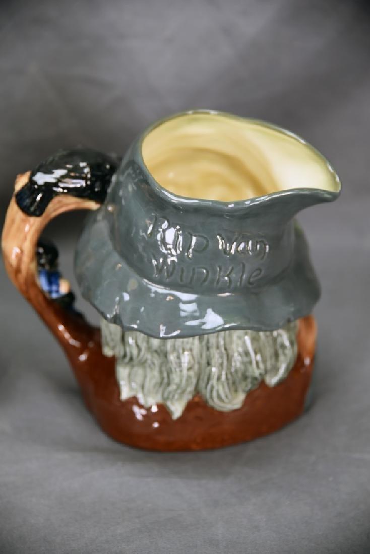 Royal Doulton Rip Van Winkle, Falstaff Toby Mugs - 6