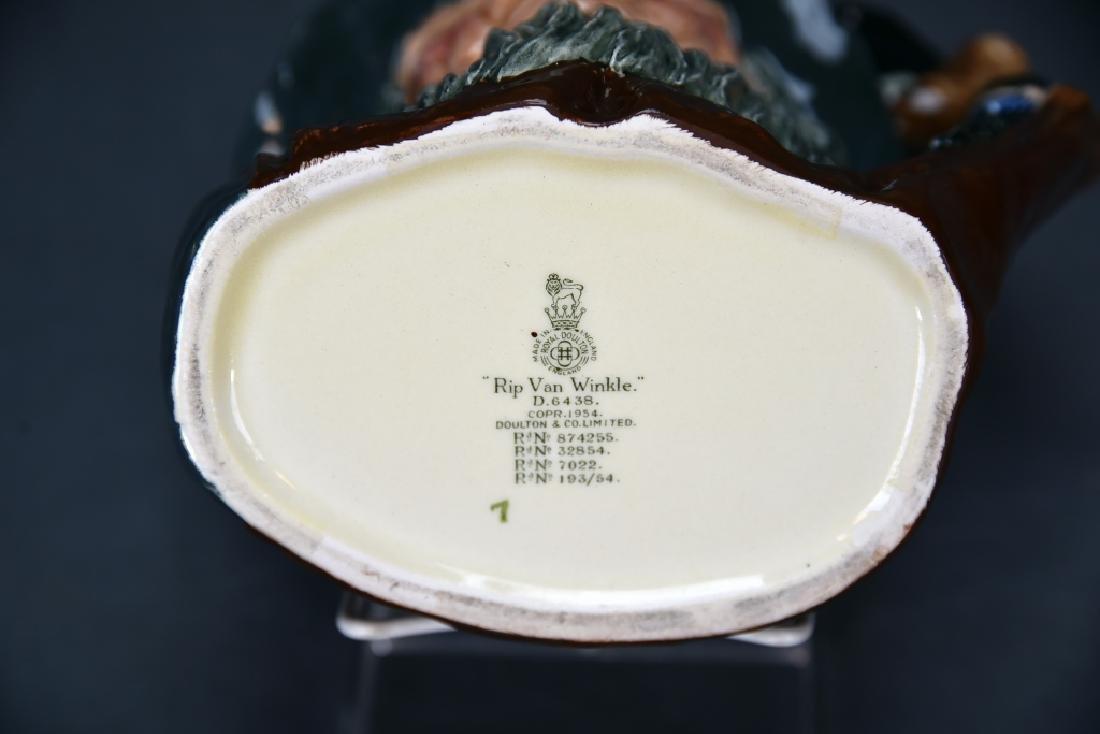 Royal Doulton Rip Van Winkle, Falstaff Toby Mugs - 8