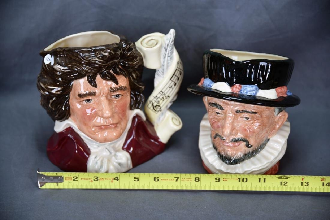 2 Royal Doulton Toby Mugs Beefeater, Bethoven - 2