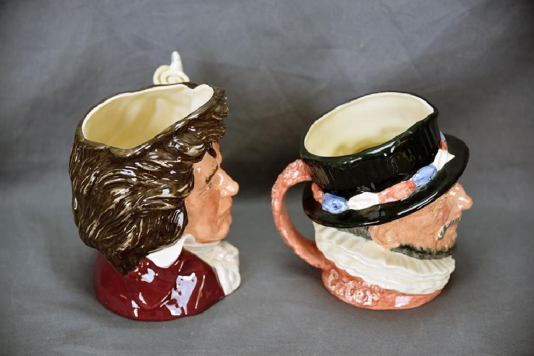 2 Royal Doulton Toby Mugs Beefeater, Bethoven - 3