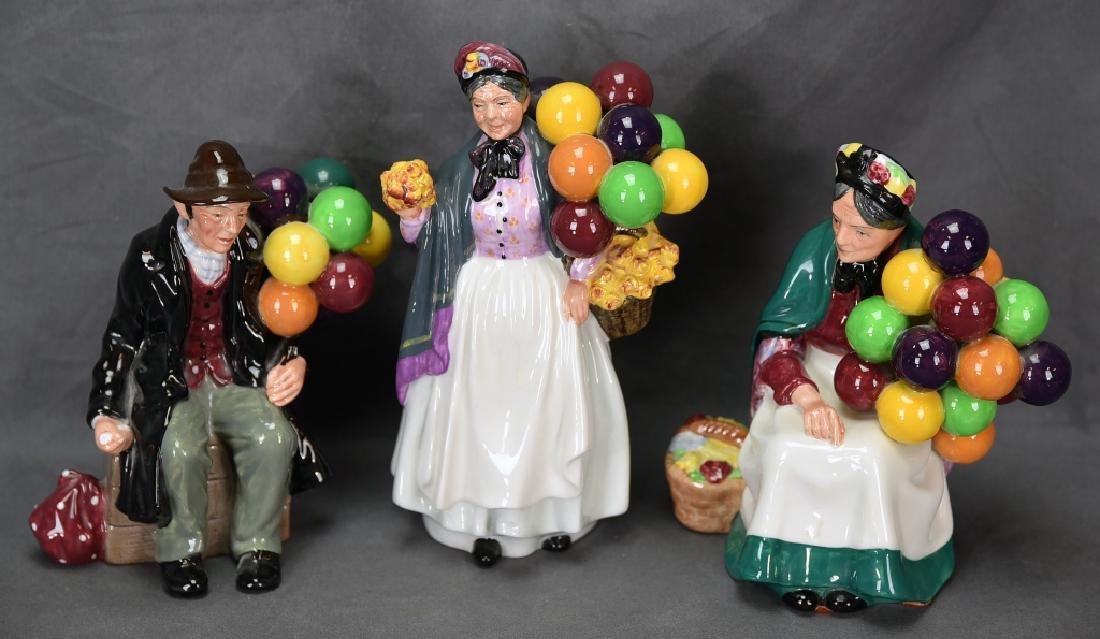 3 Different Royal Doulton Balloon Themed Figurines