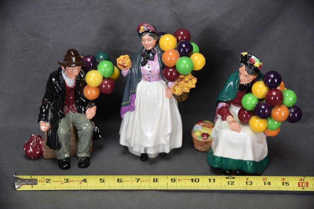 3 Different Royal Doulton Balloon Themed Figurines - 2