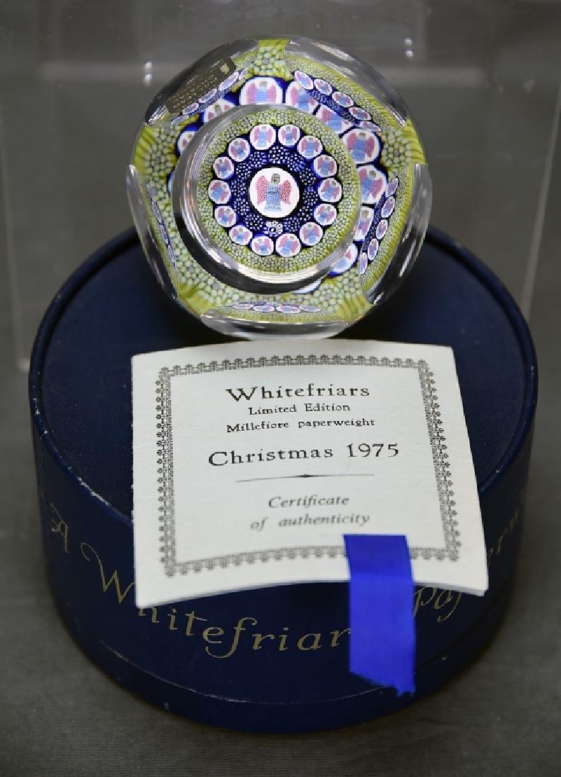 Whitefriars Millefiori Paperweight Christmas 1975
