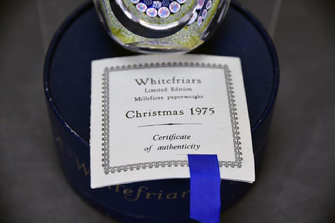 Whitefriars Millefiori Paperweight Christmas 1975 - 2