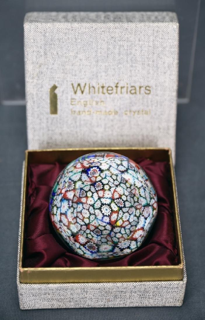 Whitefriars Millefiori Glass Paperweight