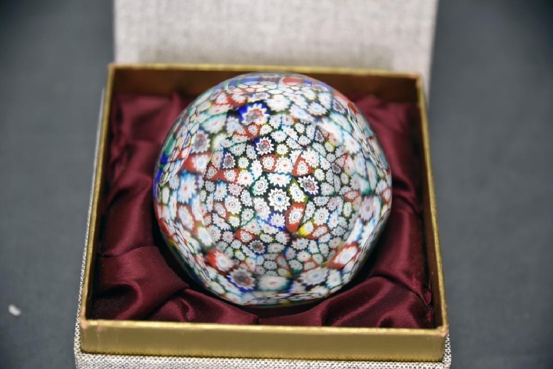 Whitefriars Millefiori Glass Paperweight - 2