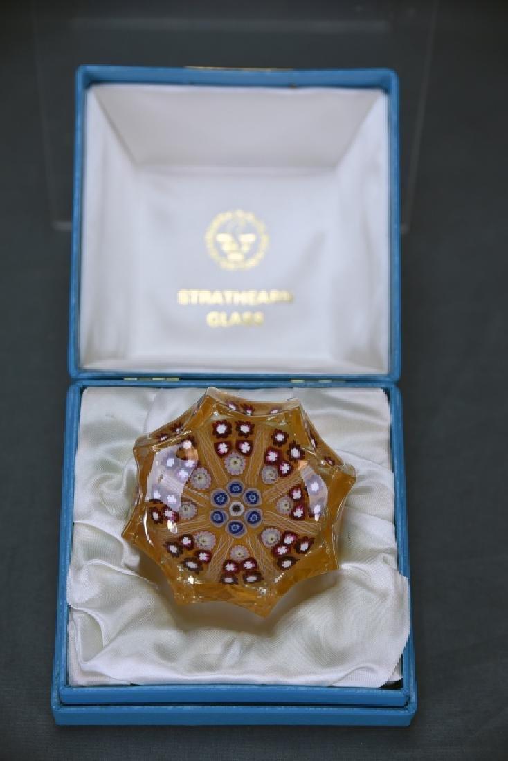 Stratheran Glass Scotland Octagonal Paperweight