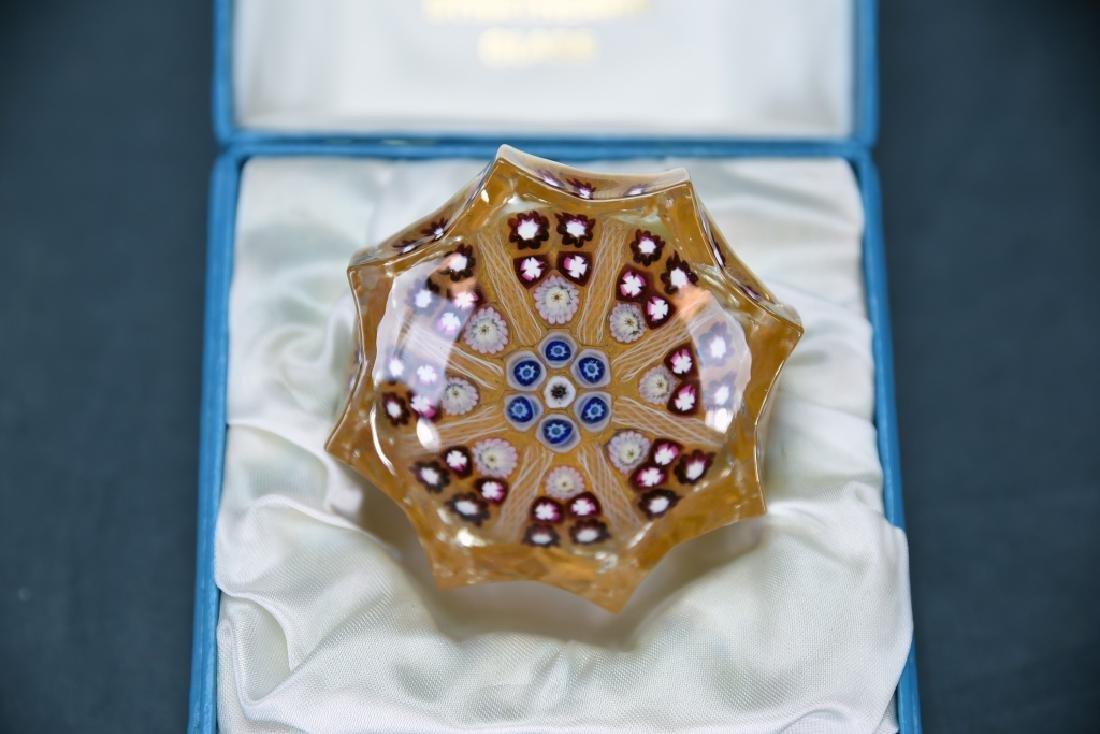 Stratheran Glass Scotland Octagonal Paperweight - 2