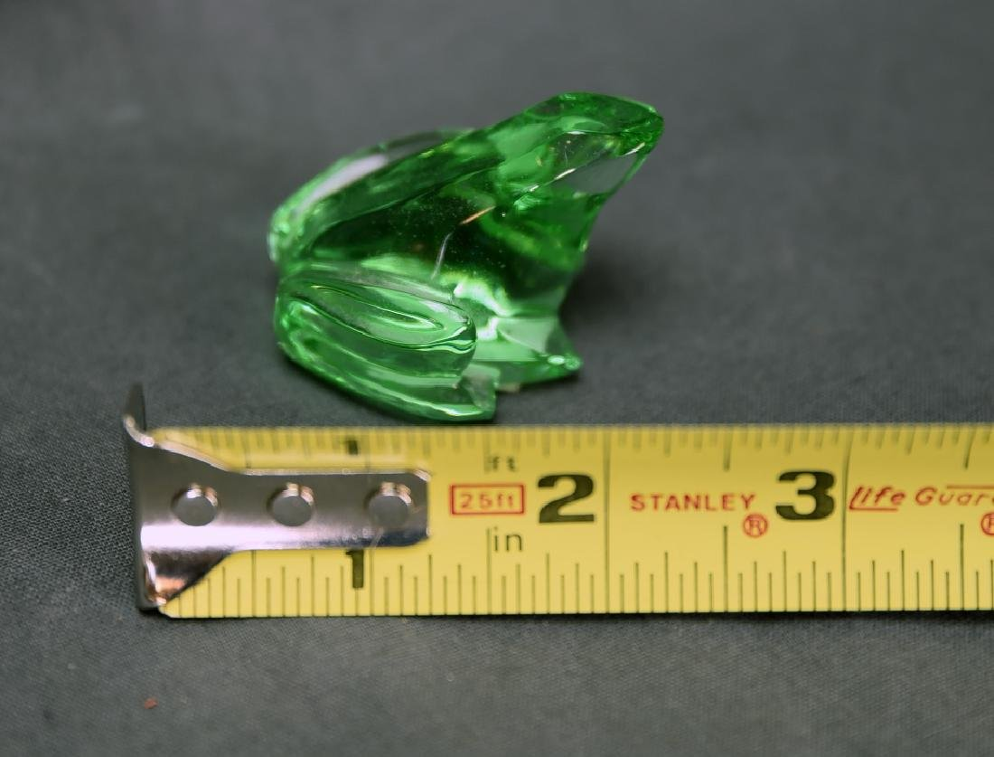 Baccarat Green Crystal Frog - 2