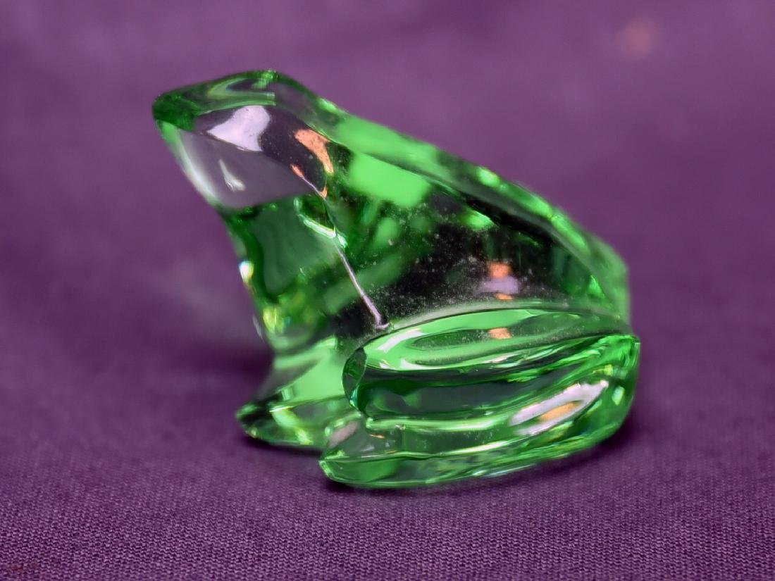Baccarat Green Crystal Frog - 3