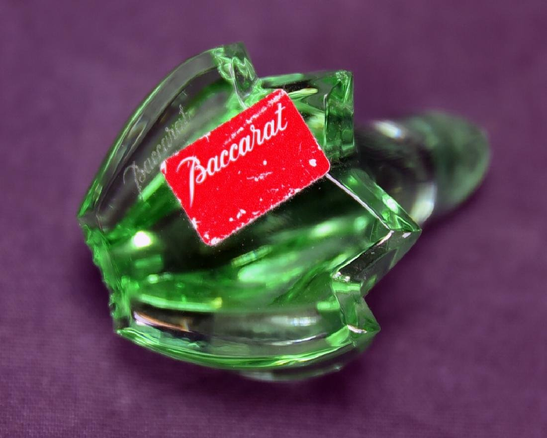Baccarat Green Crystal Frog - 5