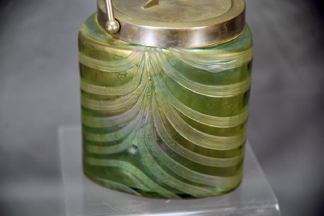 Art Nouveau Irridescent Glass Biscuit Barrel - 3