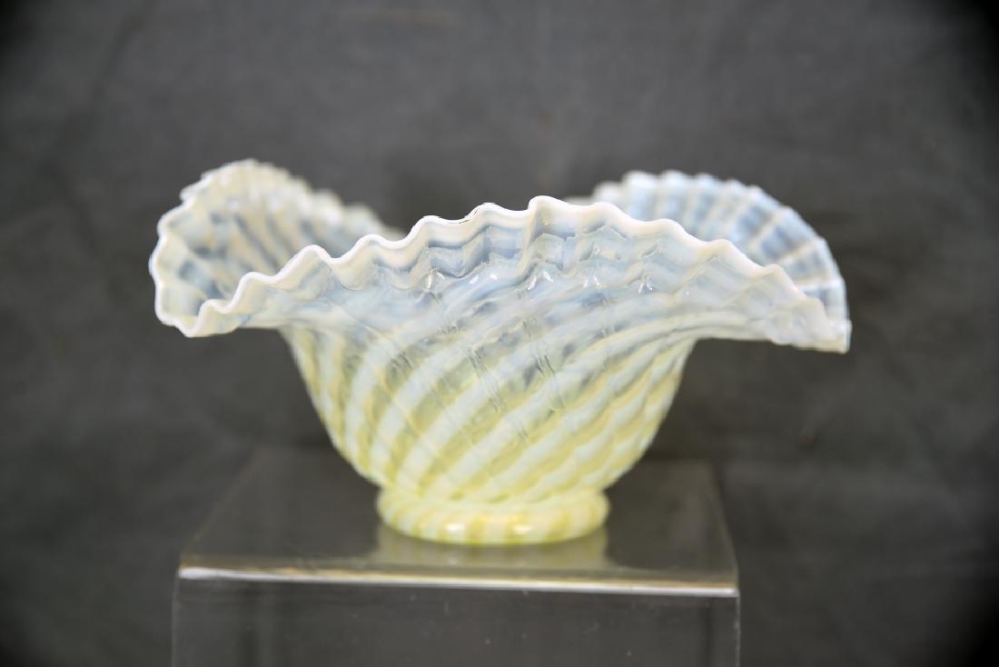 3 Pcs Yellow Victorian Glass, Perfume, Dresser Jar - 2