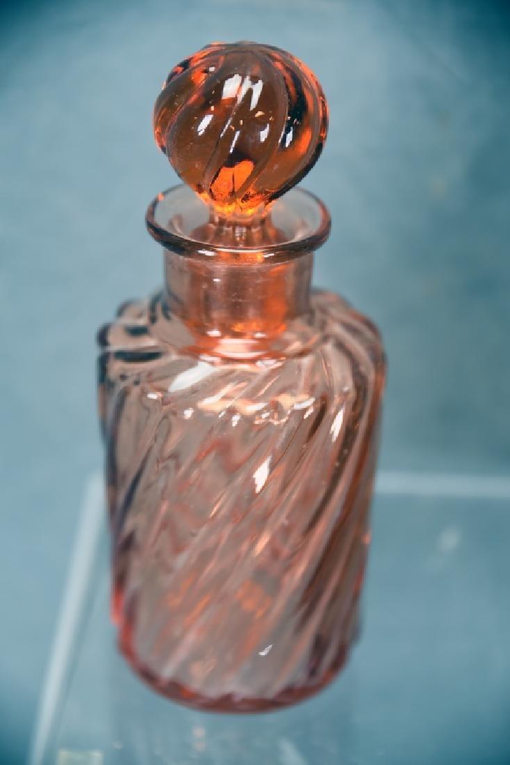 3 Vintage Pink Perfume Bottles - 4