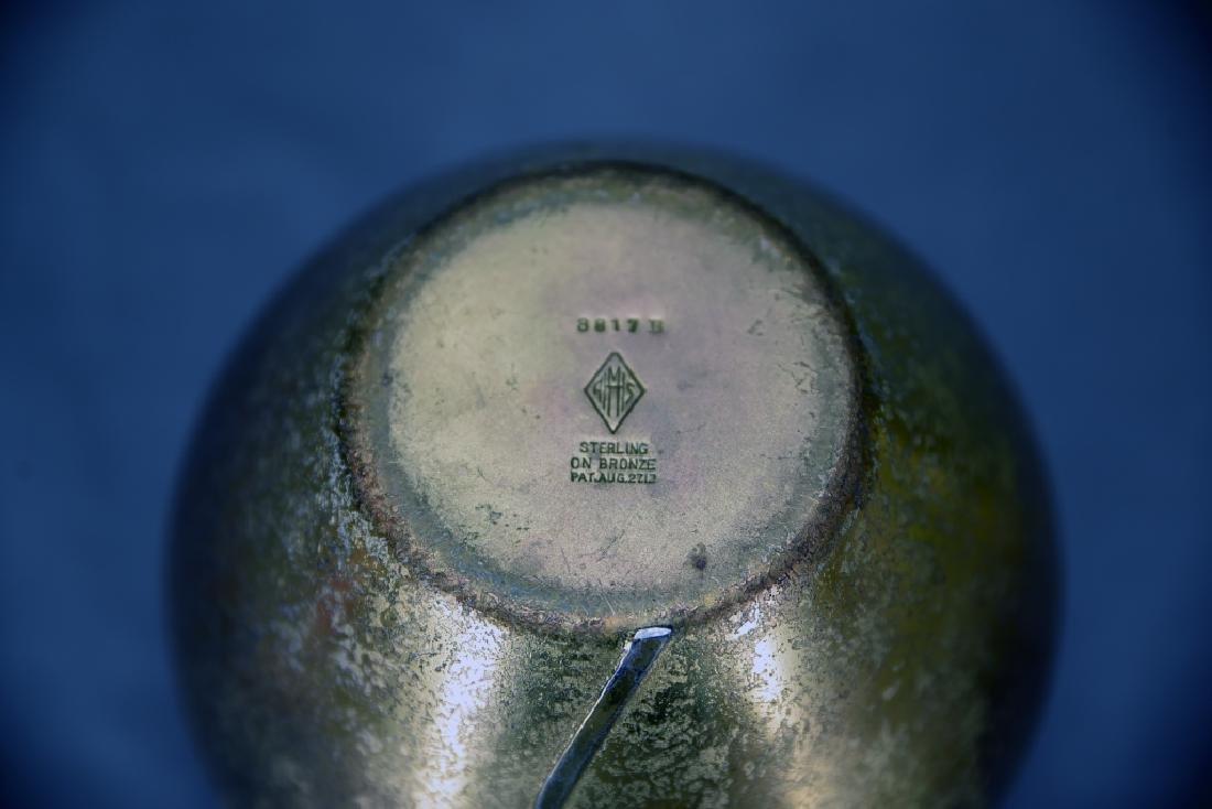 2 Heintz Art Metal Sterling on Bronze  Vases - 5