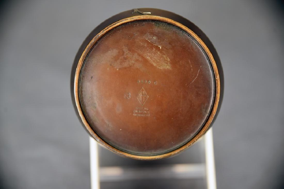 Heintz Art Metal Sterling Leaf on Bronze Vase - 4