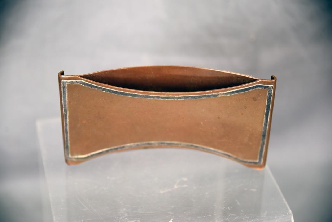 Heintz 3 Piece Sterling Over Bronze Desk Set - 10