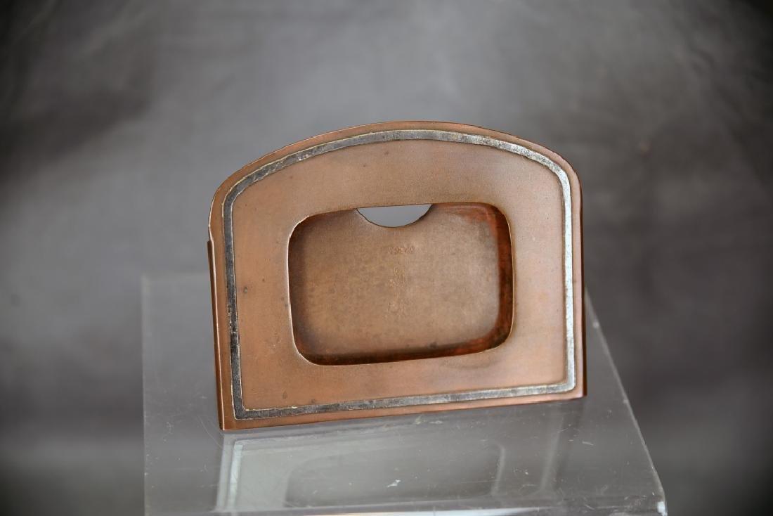 Heintz 3 Piece Sterling Over Bronze Desk Set - 3