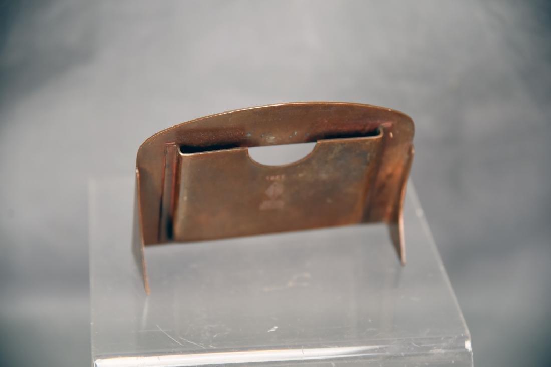 Heintz 3 Piece Sterling Over Bronze Desk Set - 4