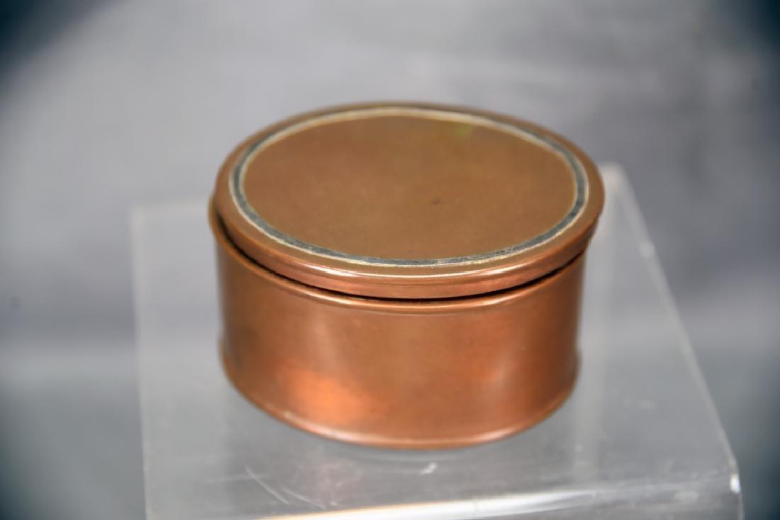 Heintz 3 Piece Sterling Over Bronze Desk Set - 6