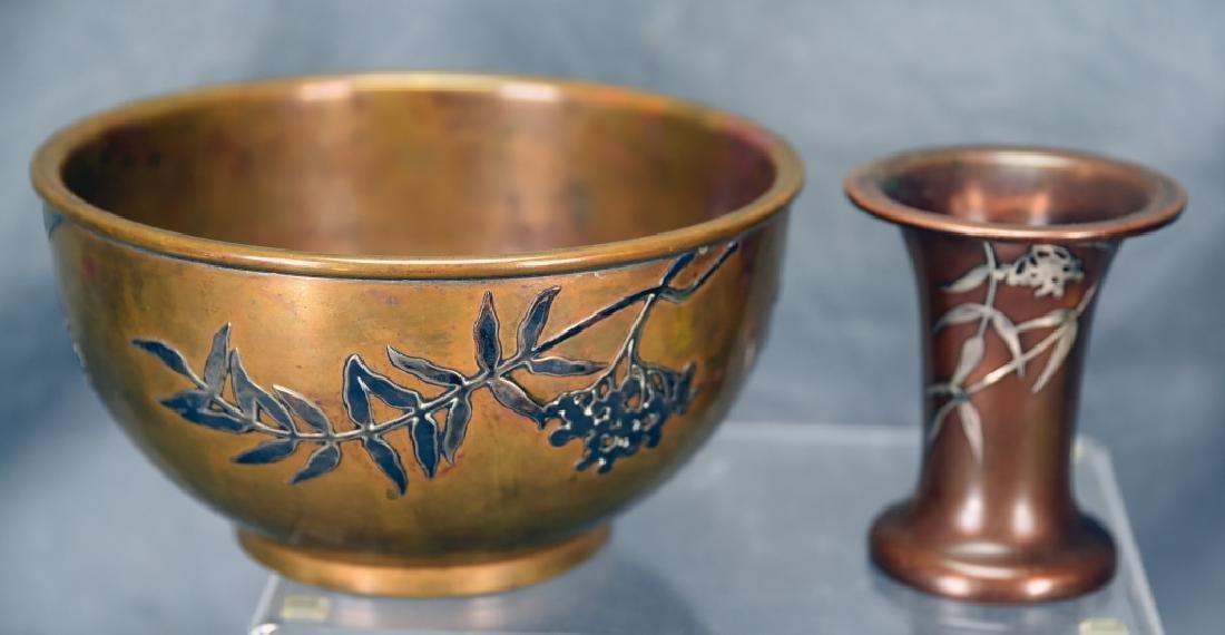 2 Sterling over Bronze Pieces, Heintz Vase…