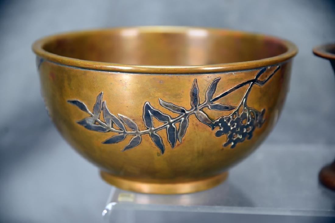 2 Sterling over Bronze Pieces, Heintz Vase… - 2