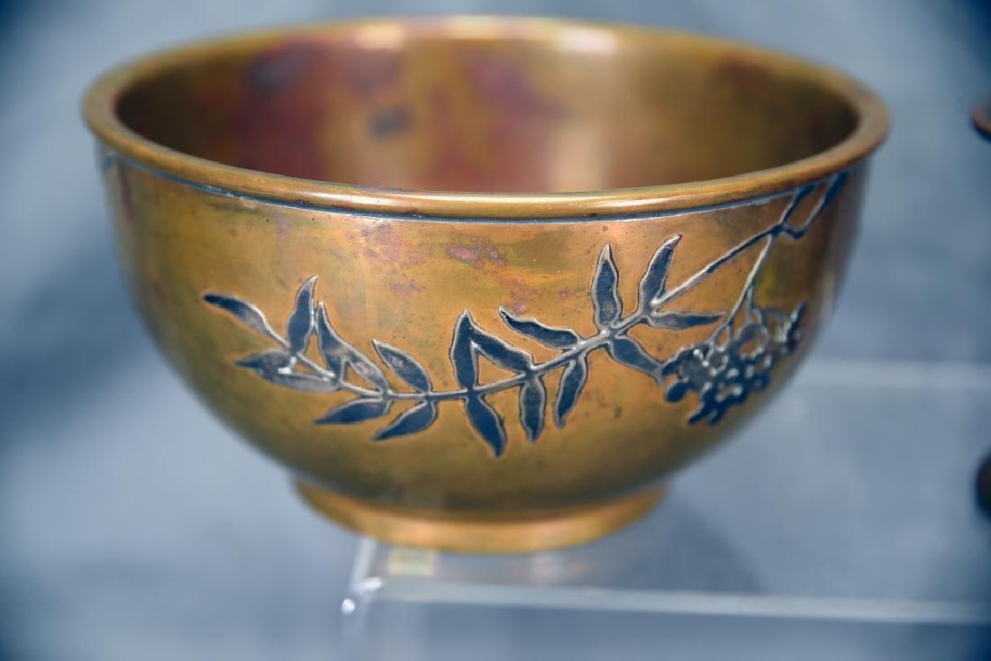 2 Sterling over Bronze Pieces, Heintz Vase… - 4