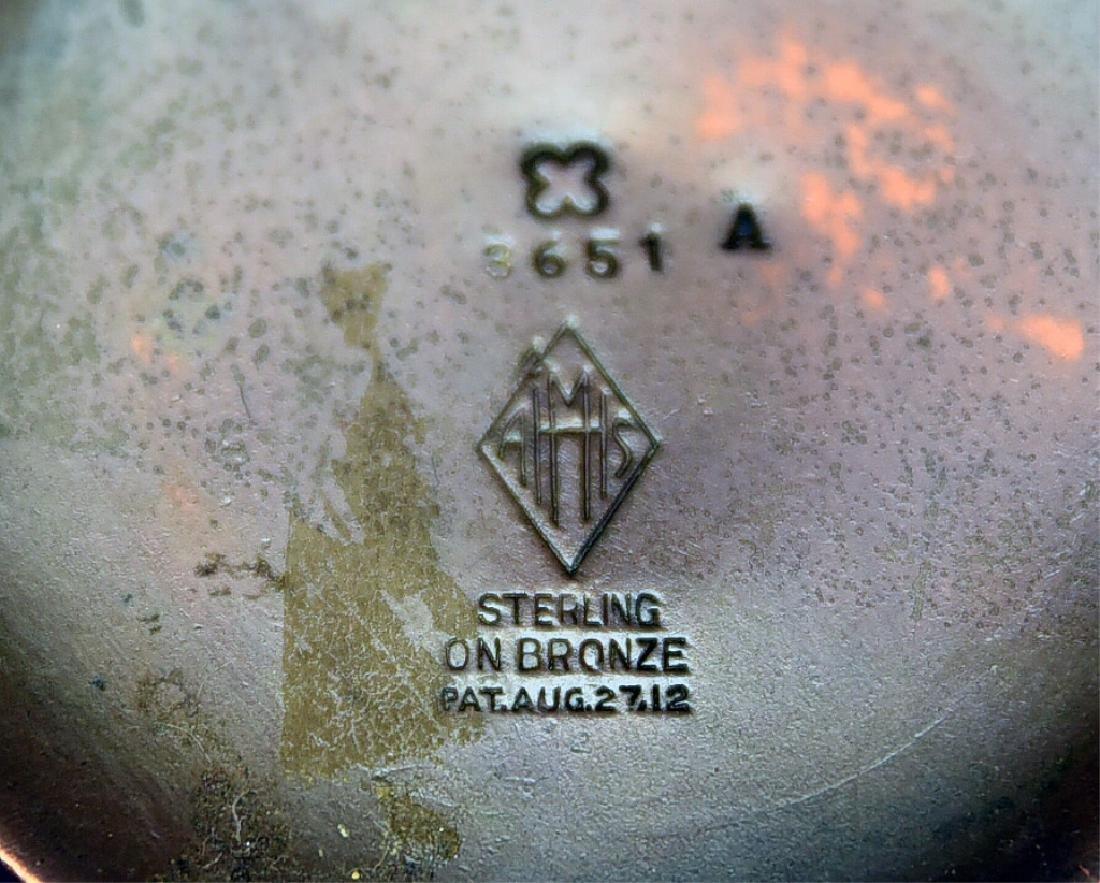 2 Sterling over Bronze Pieces, Heintz Vase… - 5