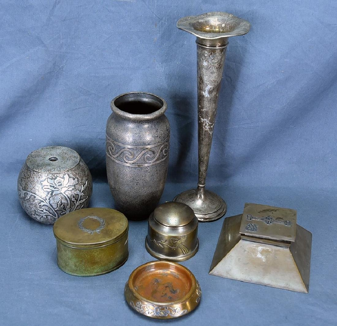 Mixed Lot of Bronze and Sterling Art Metal