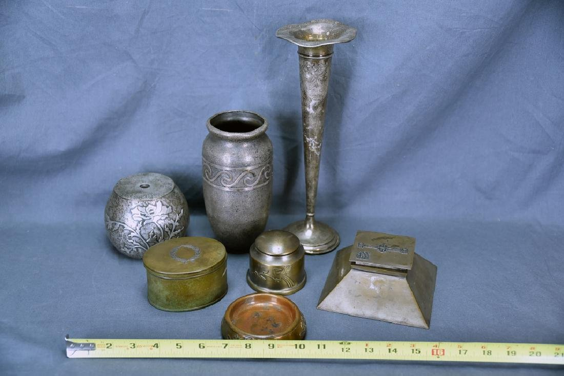 Mixed Lot of Bronze and Sterling Art Metal - 2