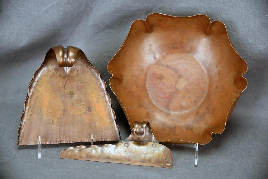 Craftsmen Copper Crumb Set, Unmarked Copper Bowl