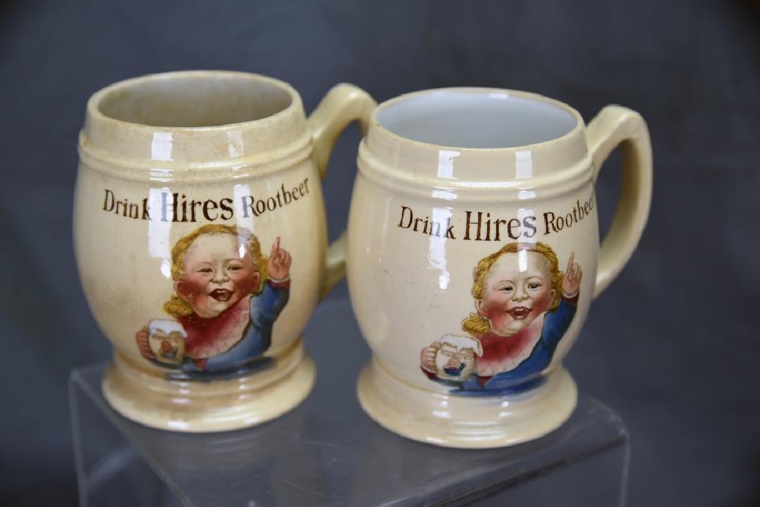 3 Vintage Mettlach Transfer Mugs, Hires Rootbeer - 3